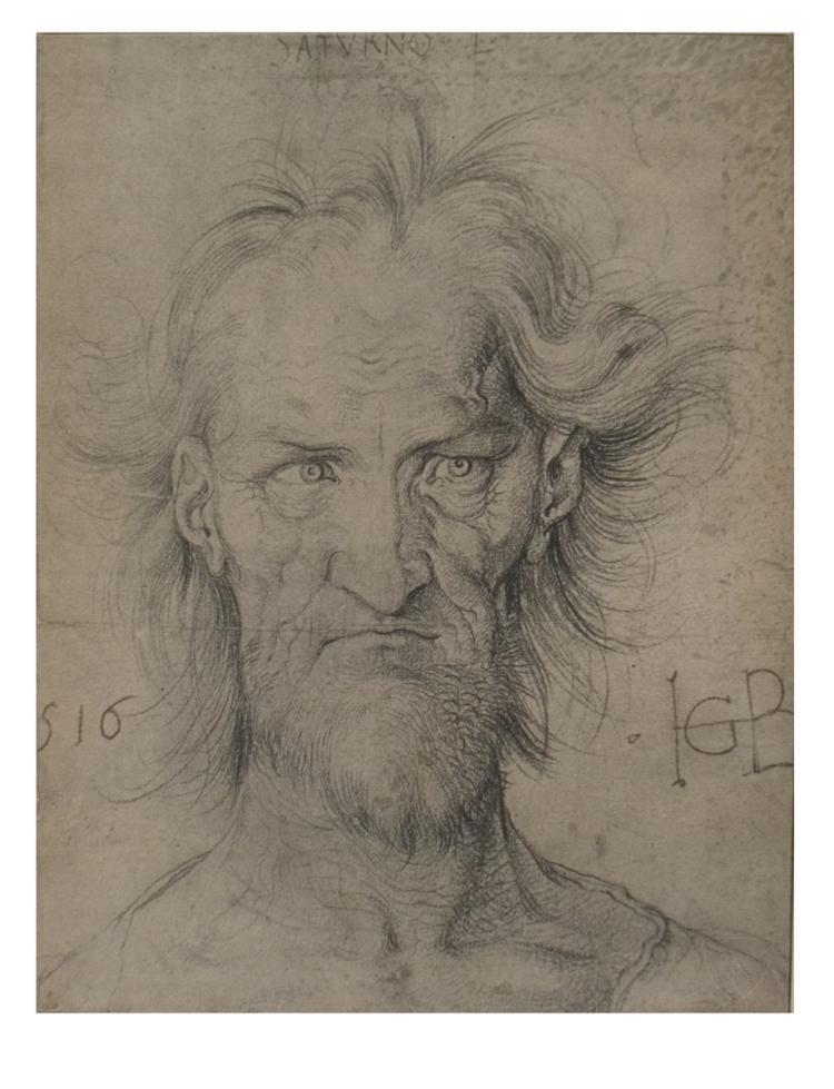 Hans Baldung Grien - Head of Saturn