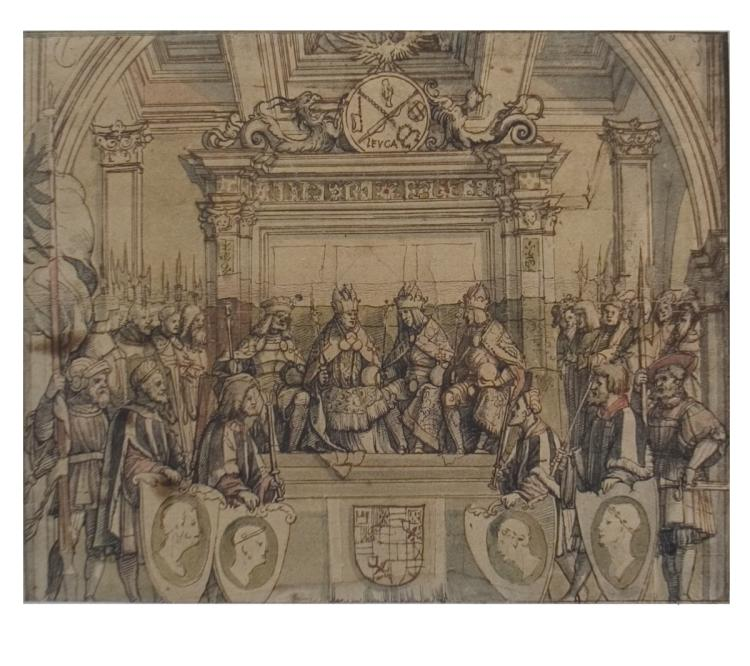 Jorg Breu - An Imaginary Gathering of the First Four Habsburg Emperors