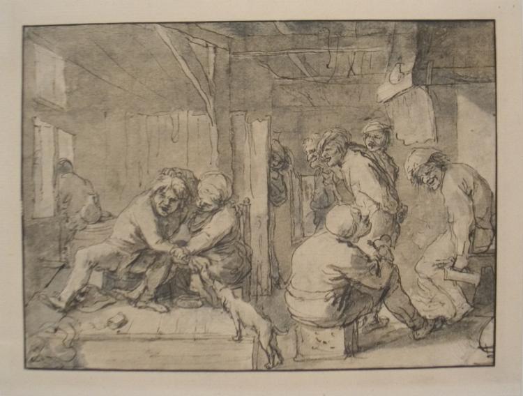 Adriaen Brouwer - Scene in an Inn