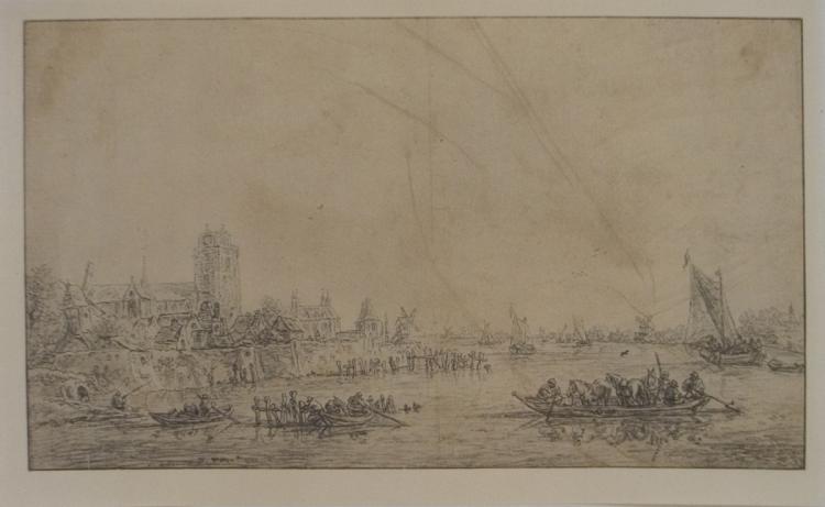 Jan van Goyen - Canal Landscape