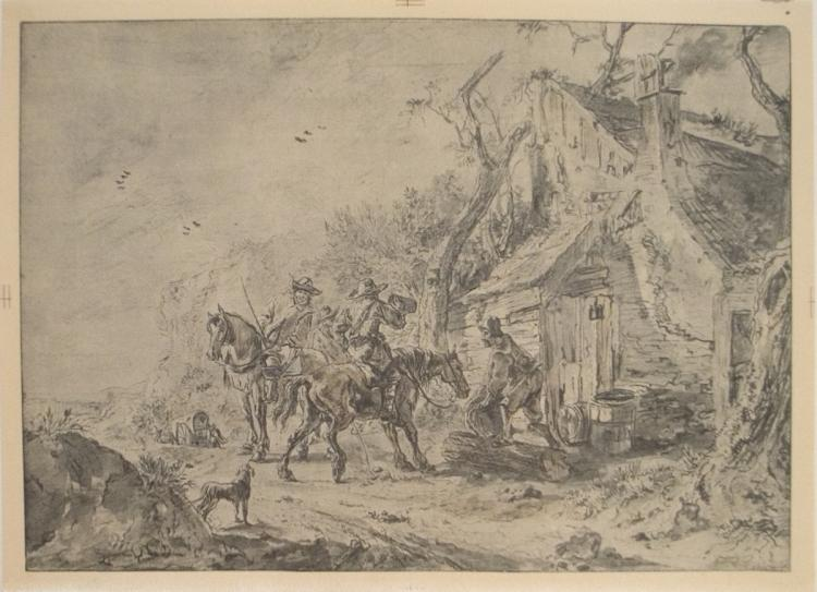 Phillips Wouwerman - A Halt Before The Tavern