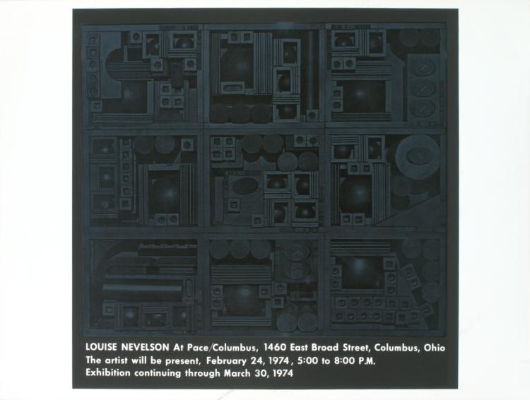 Louise Nevelson - Pace/Columbus - 1974