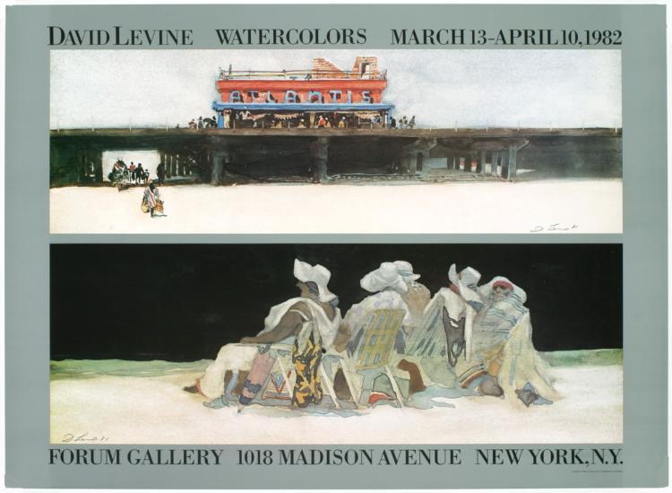 David Levine - Forum Gallery - 1982
