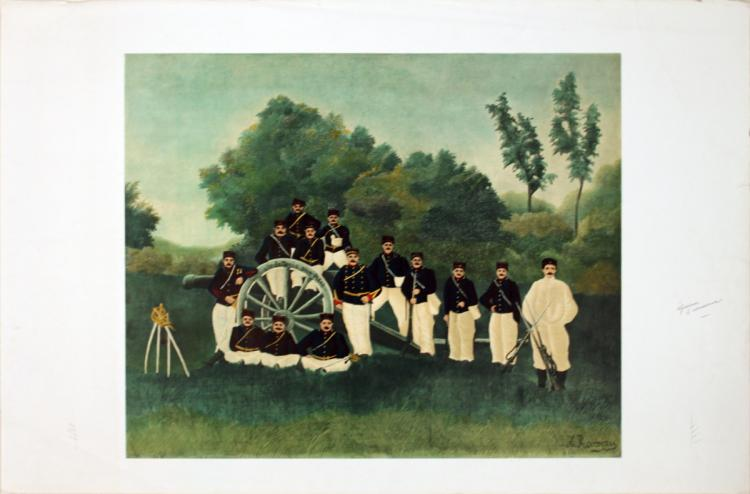 Henri Rousseau - Artillery Men (proof)