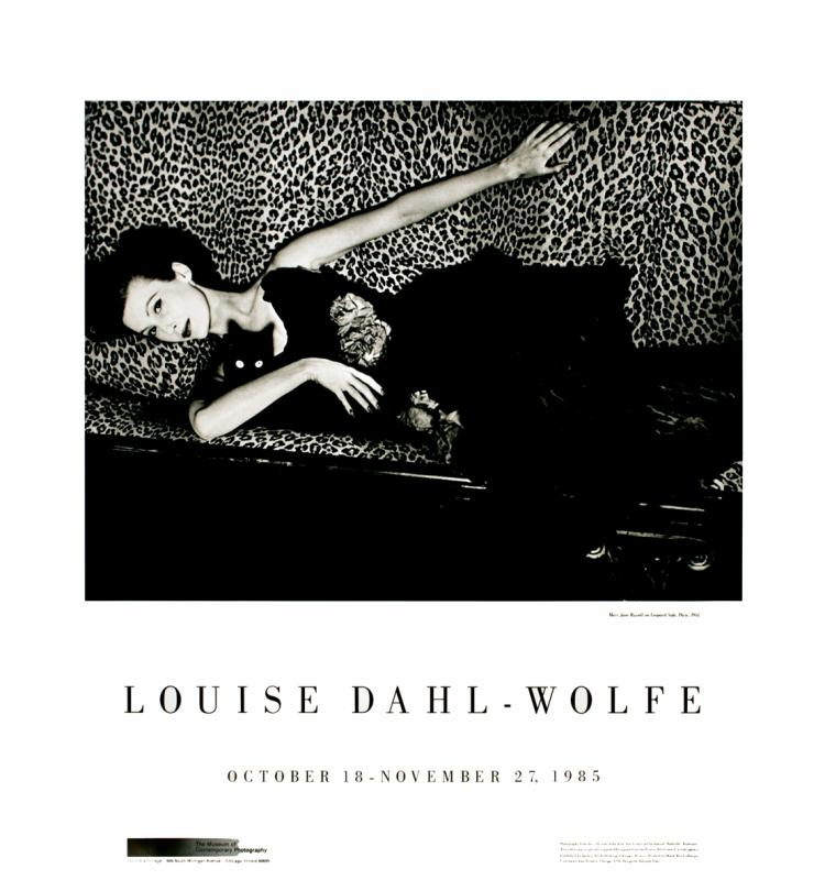 Louise Dahl-Wolfe - Mary Jane Russell on Leopard Sofa, Paris - 1985