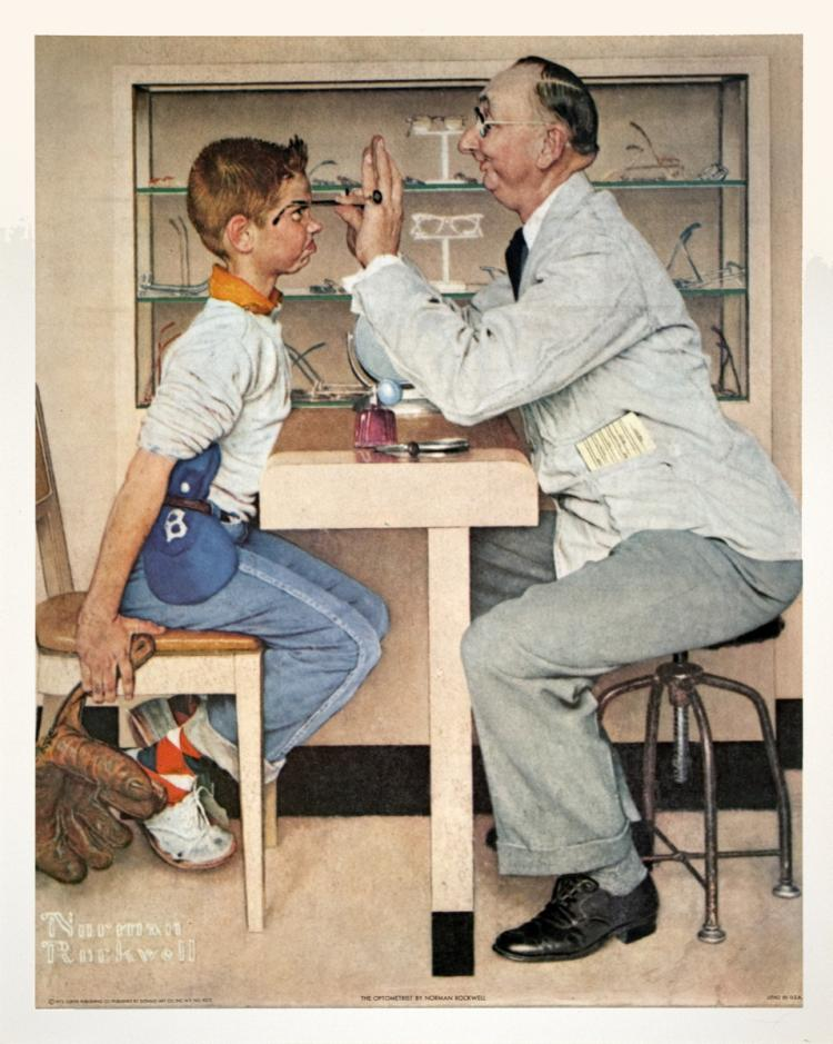 Norman Rockwell - The Optometrist - 1972