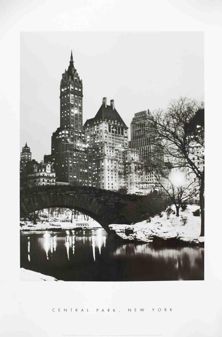 Footbridge in Snowy Central Park, New York - 2001