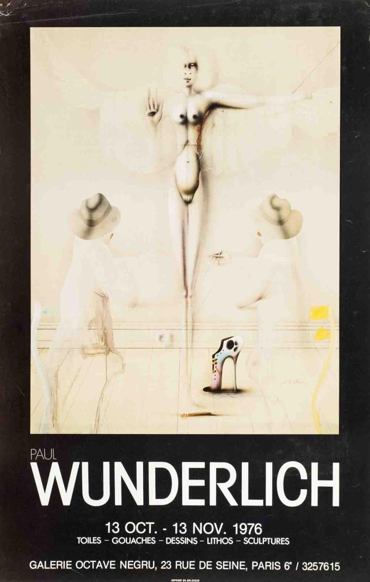 Paul Wunderlich - Galerie Octave Negru - 1976