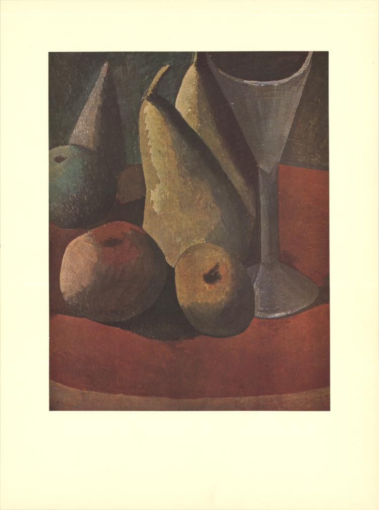Pablo Picasso - Fruit and Wineglass