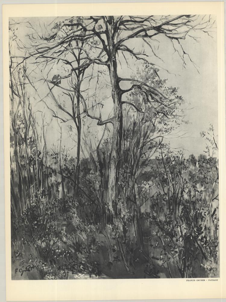 Gruber - Paysage - 1953