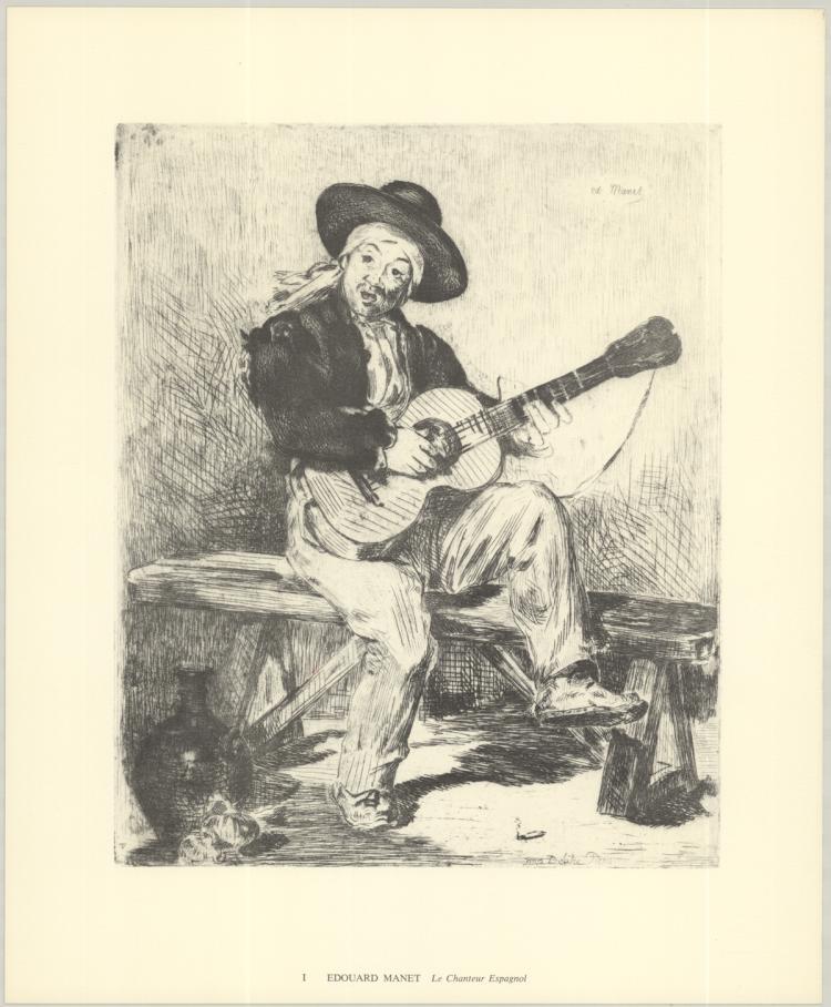 Edouard Manet - Le Chanteur Espagnol - 1974