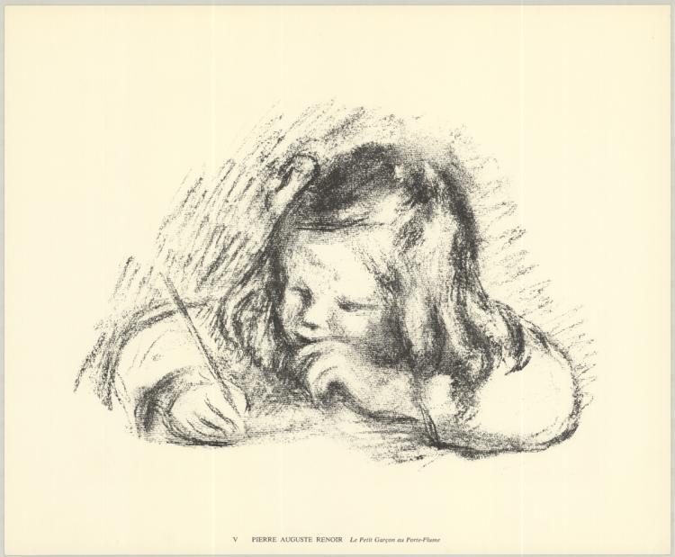 Pierre-Auguste Renoir - Le Petit Garcon au Porte-Plume - 1974