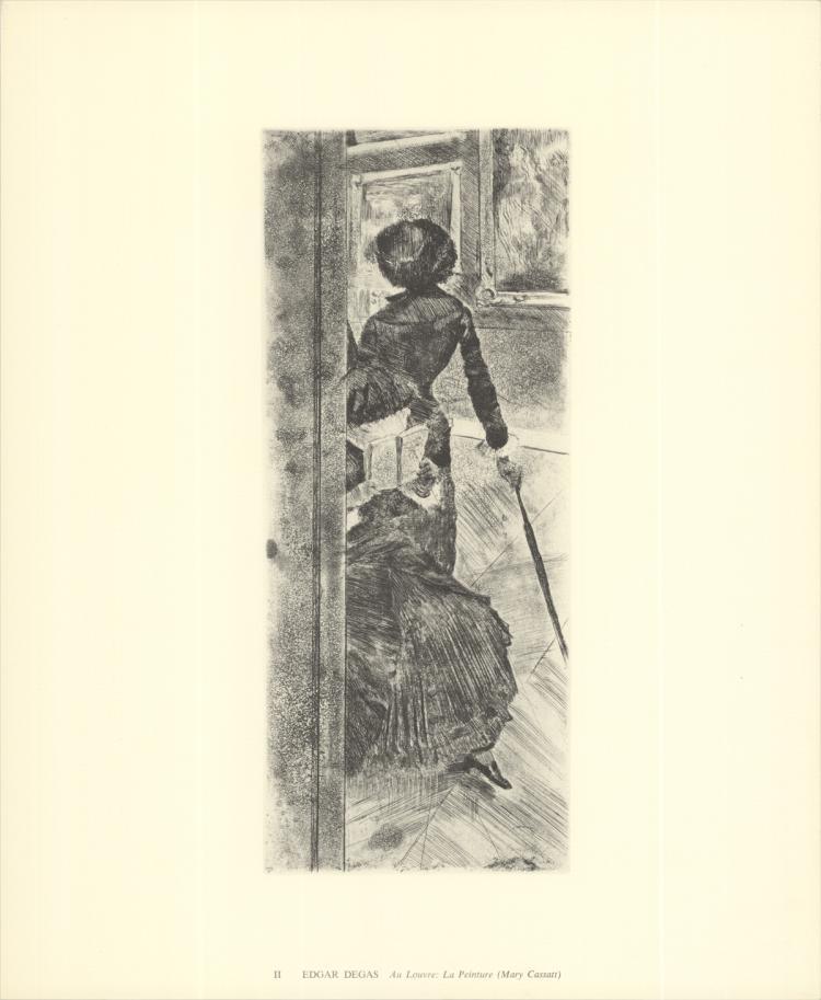 Edgar Degas - Au Louvre: La Peinture (Mary Cassatt) - 1974