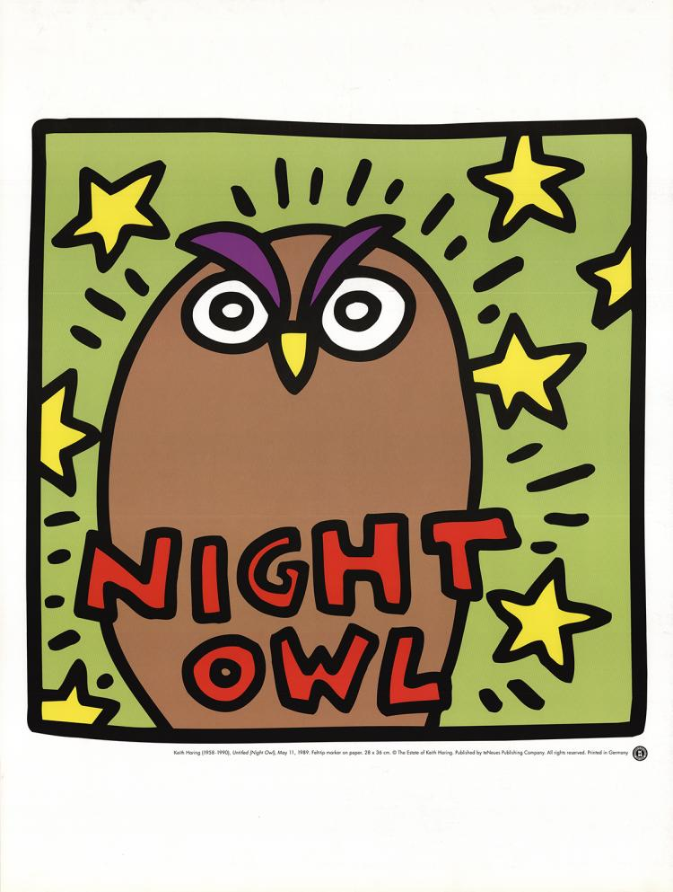 Keith Haring - Untitled (Night Owl)