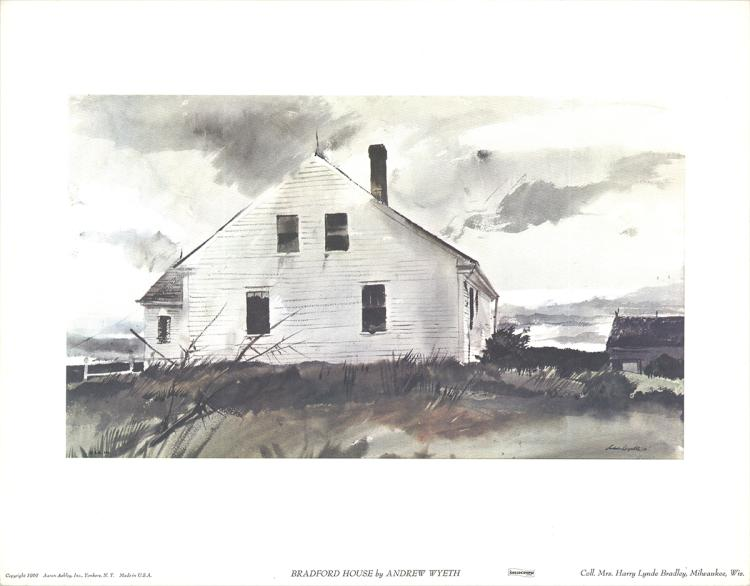 Andrew Wyeth - Bradford House - 1965