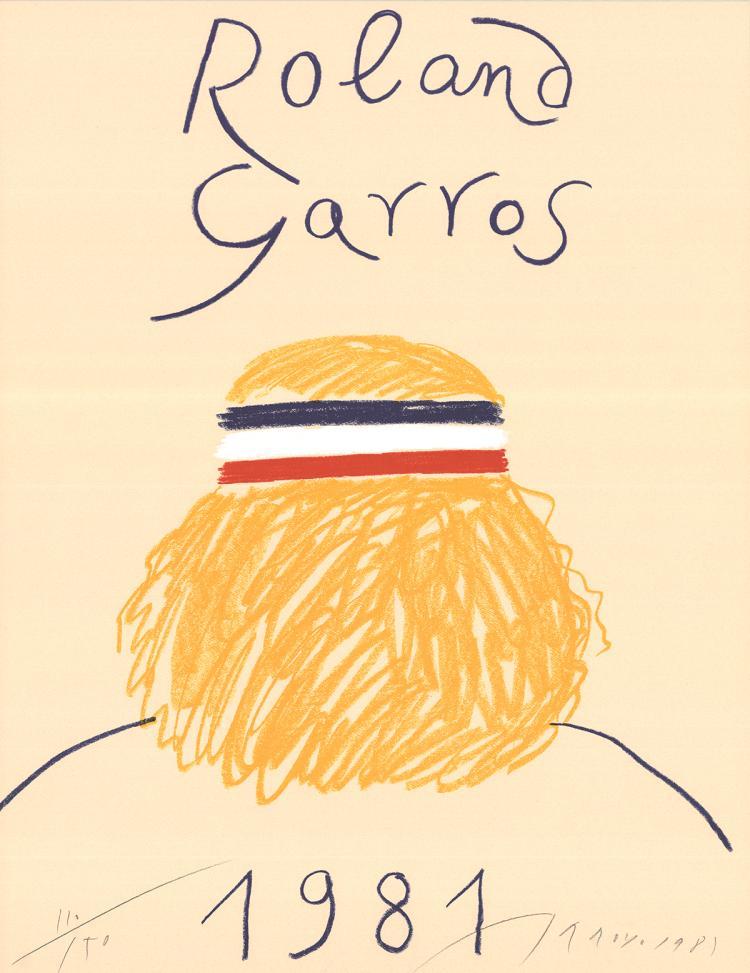 Eduardo Arroyo - Roland Garros - 1981 - SIGNED