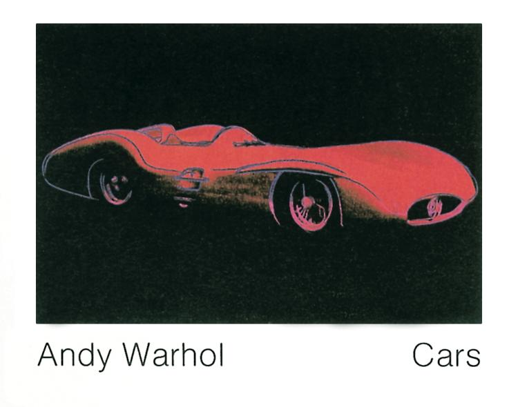 Andy Warhol - Formula 1 Car (1954) - 1989