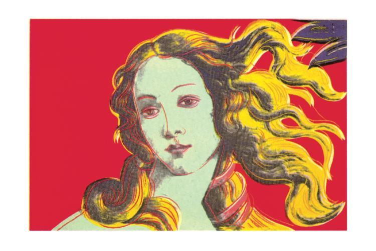 Andy Warhol - Birth of Venus-Red - 2000