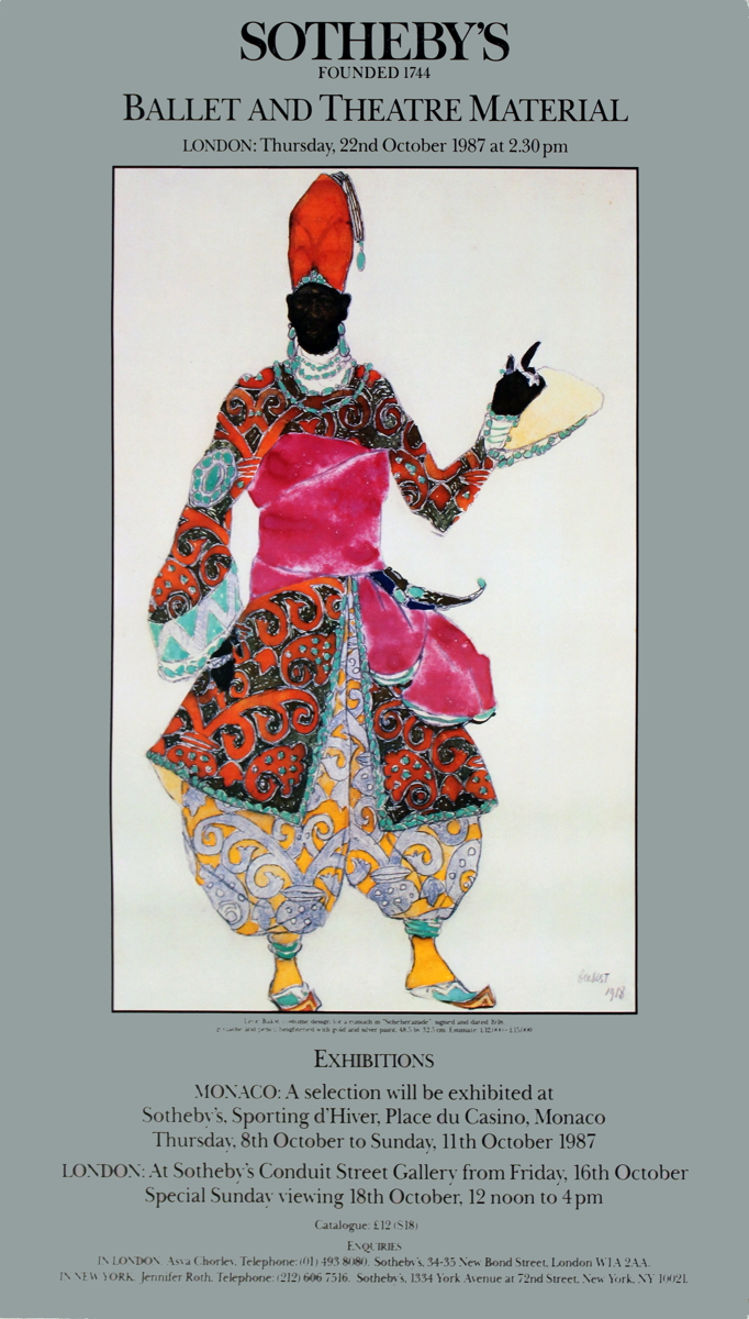 Leon Bakst - Costume Design for a Eunuch - 1987