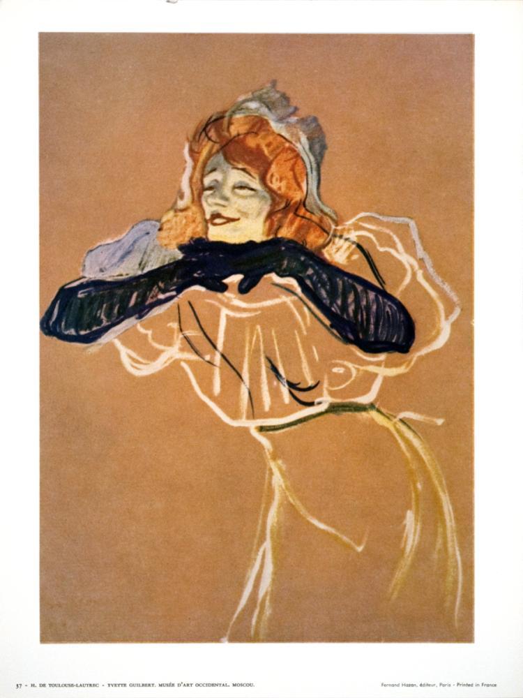 Henri de Toulouse-Lautrec - Yvette Guilbert