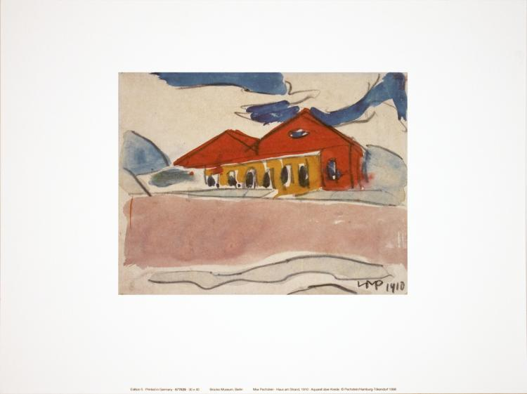 Max Pechstein - House on the Beach - 1998