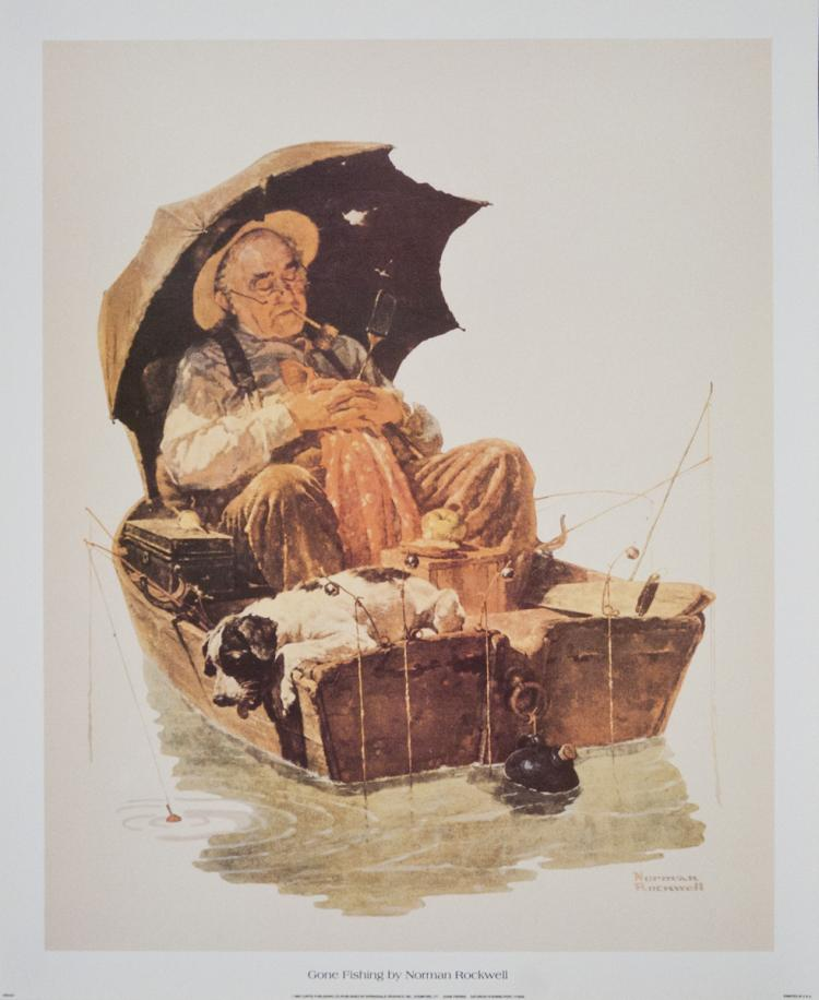 Norman Rockwell - Gone Fishing - 1992