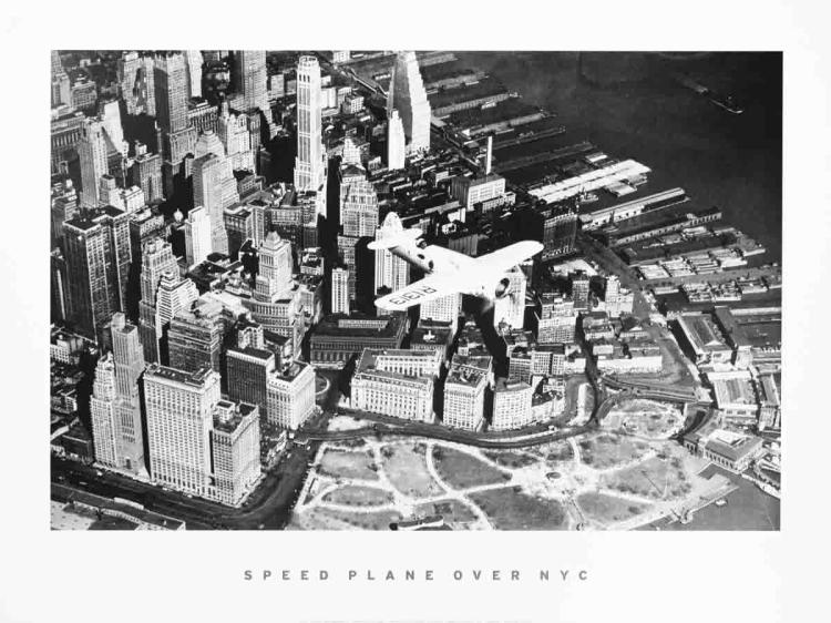 Speed Plane Over NYC (1937)