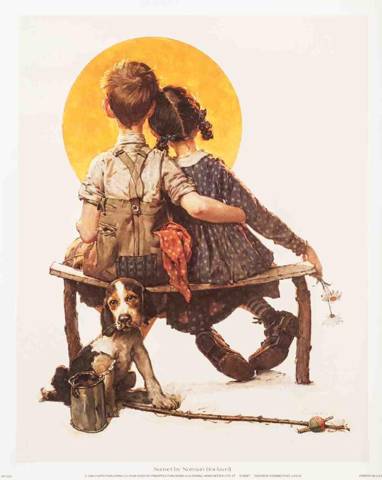 Norman Rockwell - Sunset - 1996