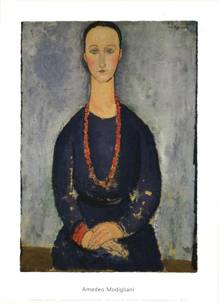 Amedeo Modigliani - La Femme au Collier de Corail