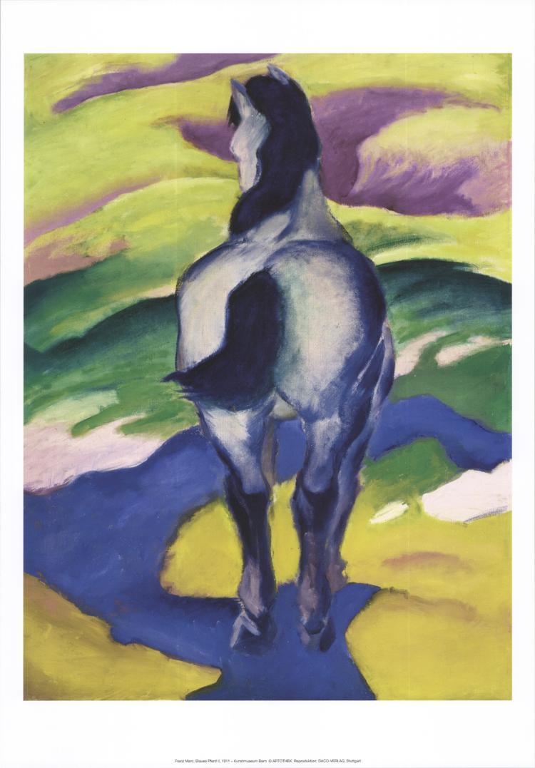 Franz Marc - Blaues Pferd II