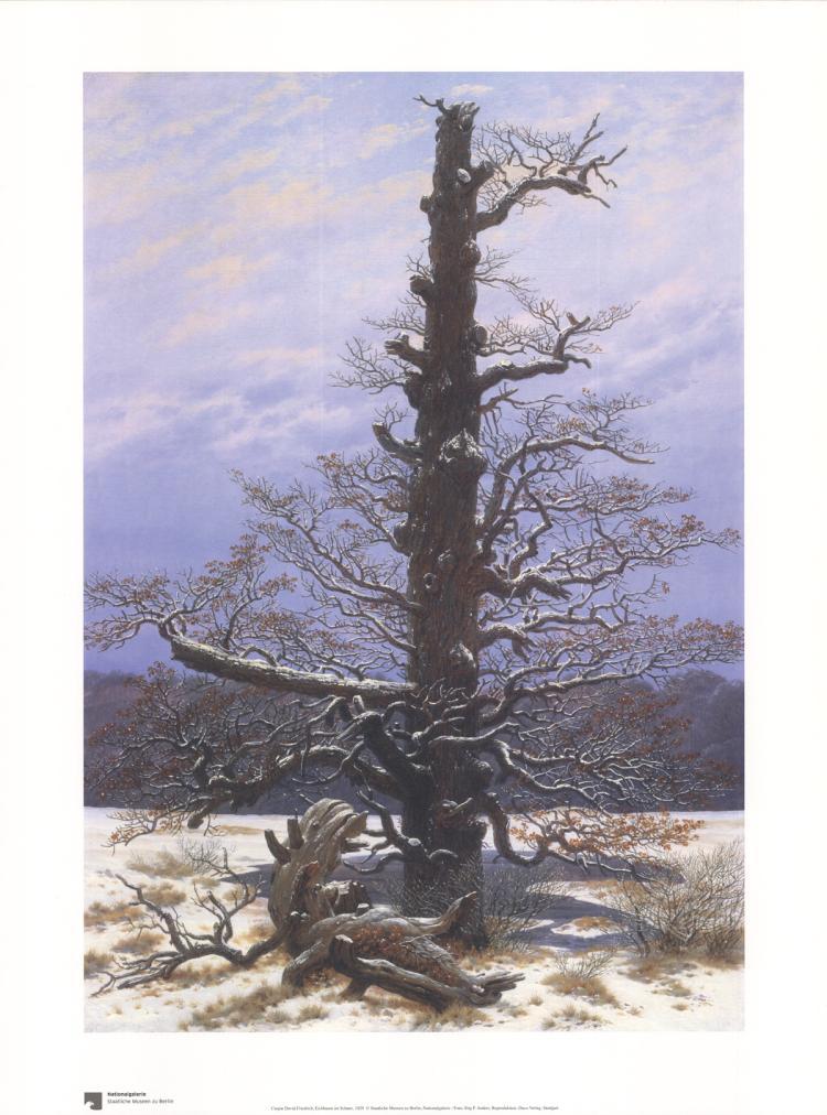 Caspar David Friedrich - Eichbaum im Schnee