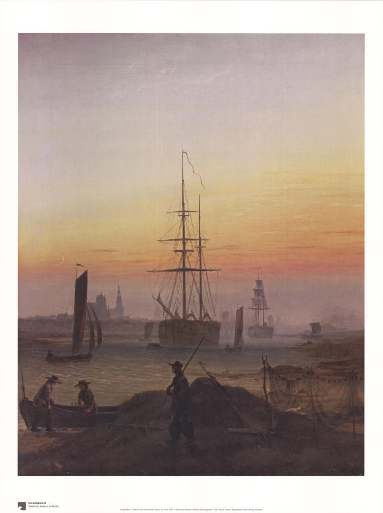 Caspar David Friedrich - Der Greifswalder Hafen
