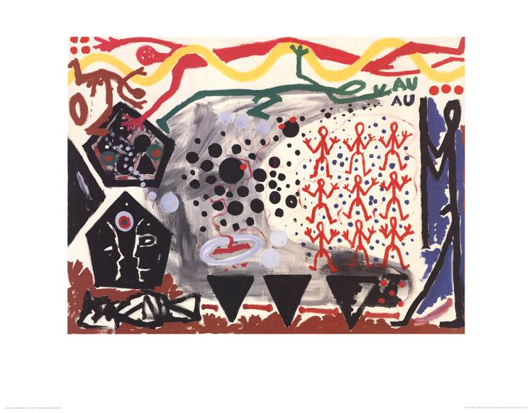 A.R. Penck - Eriegnis in NY 2