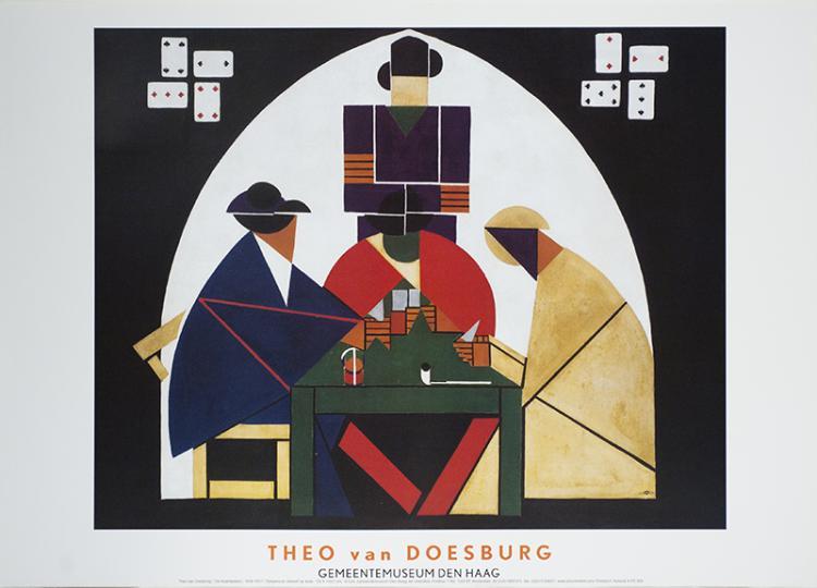 Theo van Doesburg - De Kaartspelers