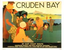 British Rail - Cruden Bay Man Putting - 1989