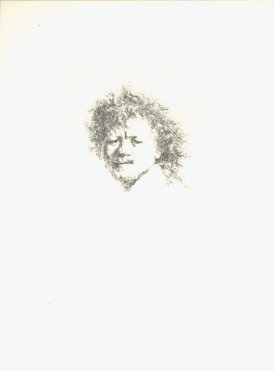 van Rijn Rembrandt - Self Portrait with Long, Dishevelled Hair - 1968