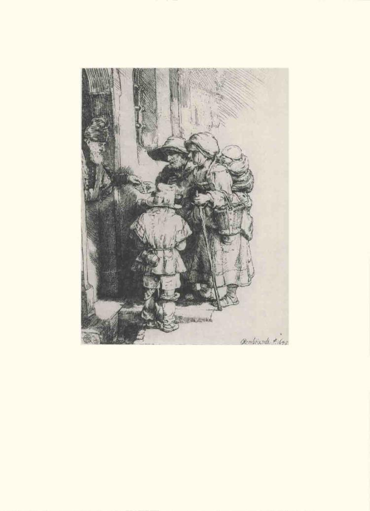 van Rijn Rembrandt - Beggars at the Door of a House - 1968