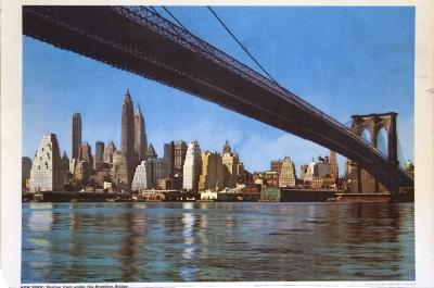 Skyline Under Brooklyn Bridge