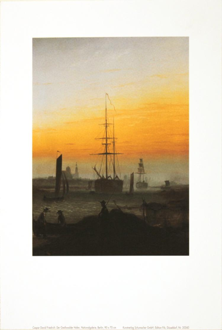 Caspar David Friedrich - Greifswald Port