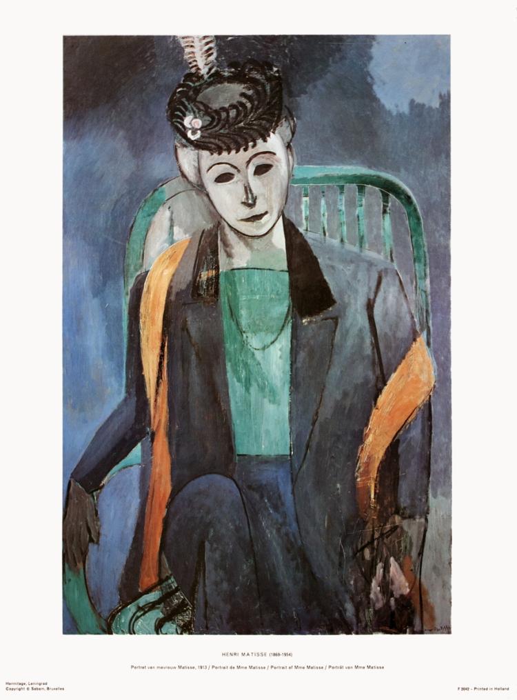 Henri Matisse - Portrait of Mademoiselle Matisse