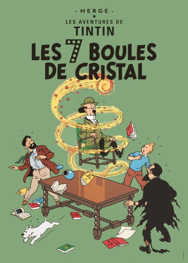 Herge - Les Aventures de Tintin: Les 7 Boules de Cristal
