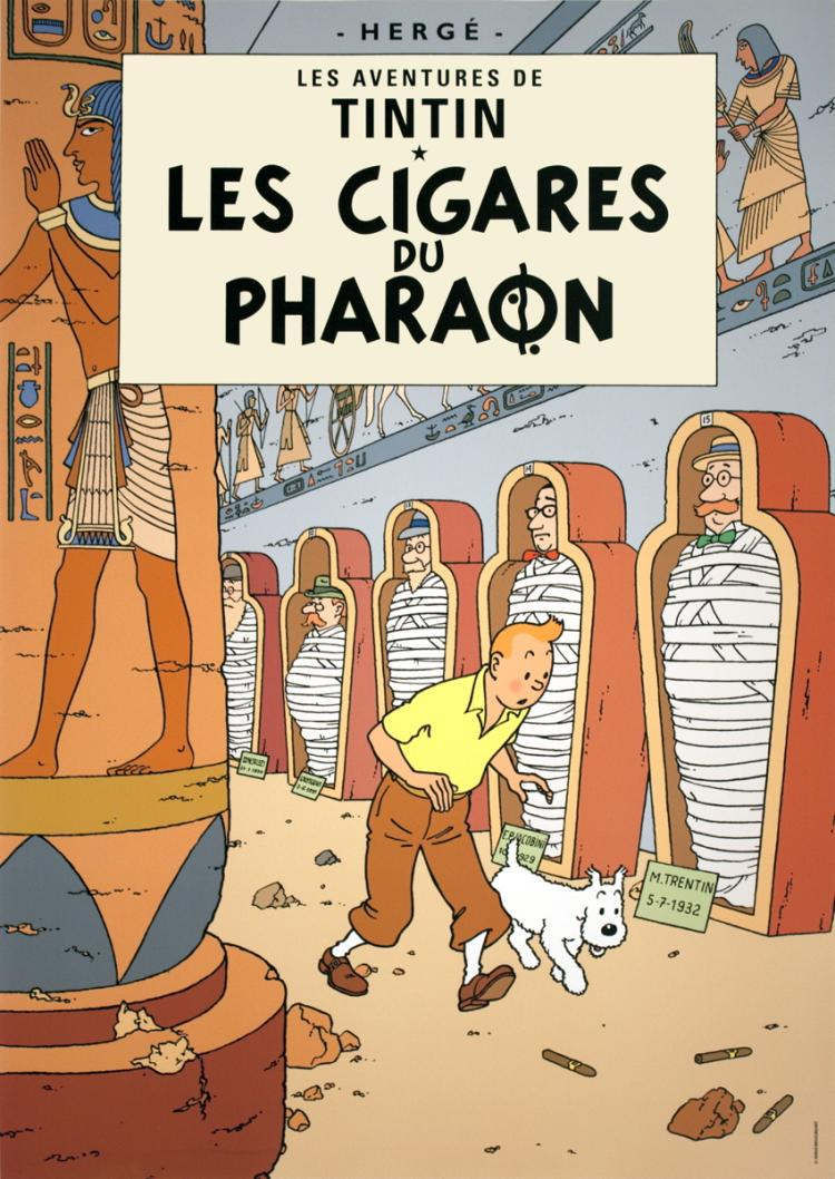 Herge - Les Aventures de Tintin: Les Cigares du Pharaon