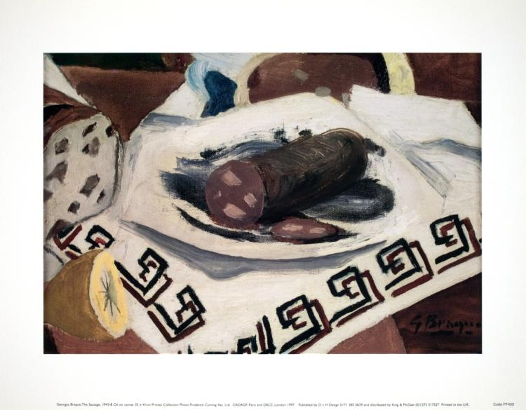Georges Braque - The Sausage - 1997