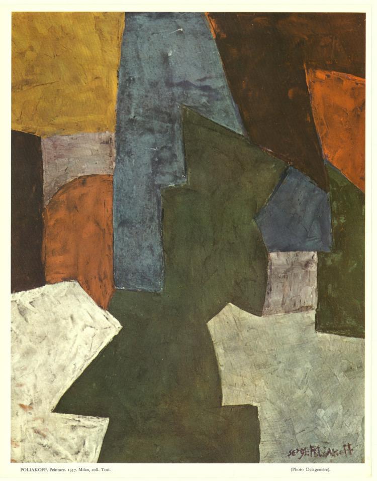 Serge Poliakoff - Peinture - 1961