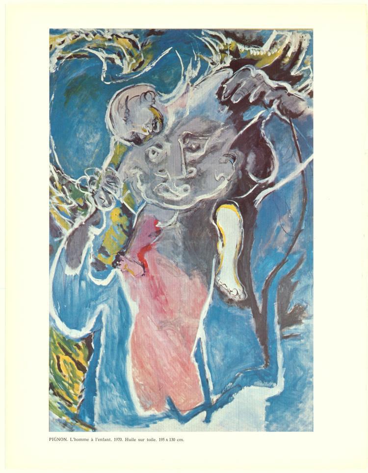 Eduouard Pignon - L'Homme a L'Enfant - 1970