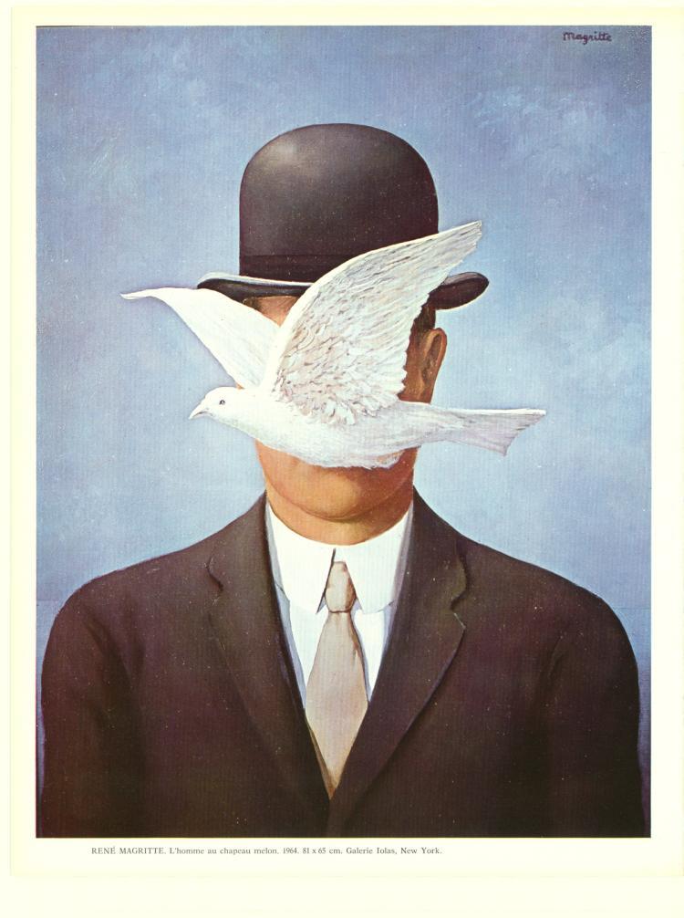 Rene Magritte - l'Homme au Chapeau Melon - 1965
