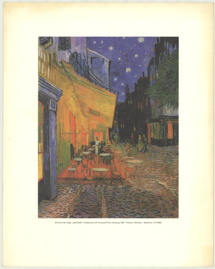 Vincent van Gogh - Cafe Terrace at Night - 1998