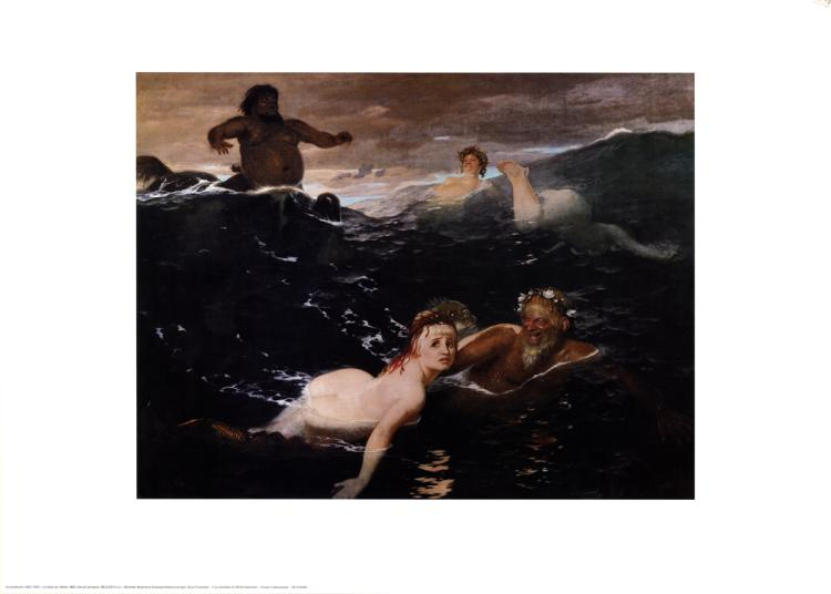 Arnold Bocklin - Playing in the Waves