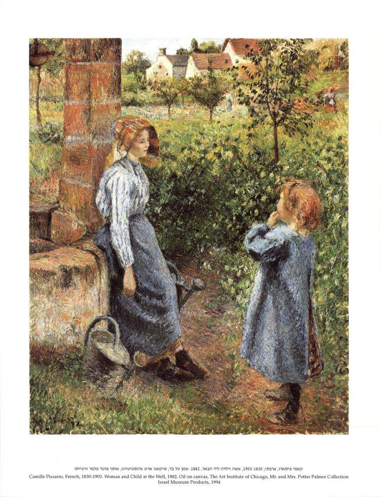 Camille Pissarro - Woman and Child at the Well