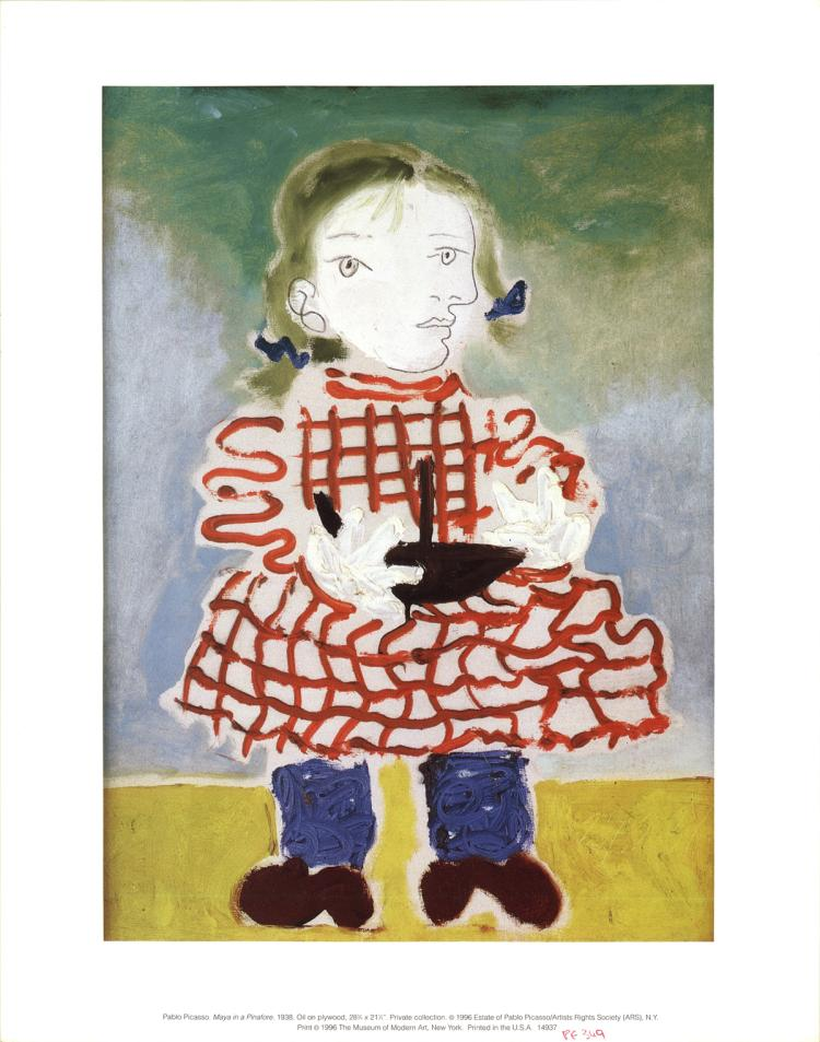 Pablo Picasso - Maya in a Pinafore